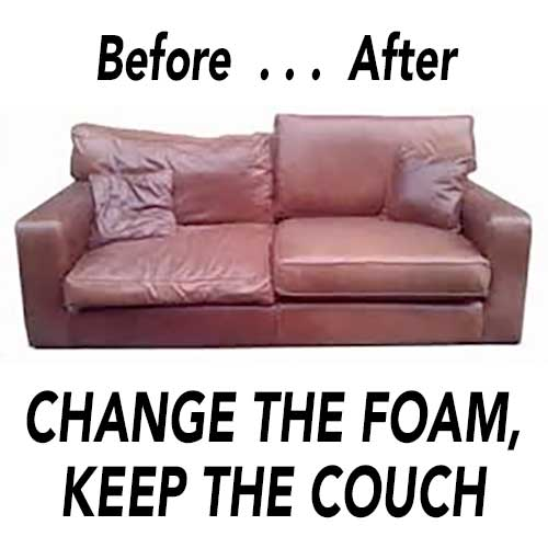 Couch With New Foam Cushions