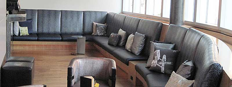 Beautiful Black Couches with new Foam Cushions