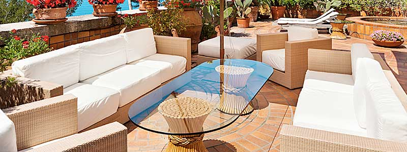 Beautiful Outdoor Furniture with new Foam Cushions
